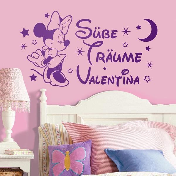 Kinderzimmer Wandtattoo: Minnie Mouse Süße Träume