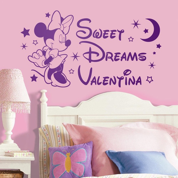 Kinderzimmer Wandtattoo: Minnie Mouse Sweet Dreams 0