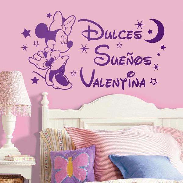 Kinderzimmer Wandtattoo: Minnie Mouse Dulces Sueños