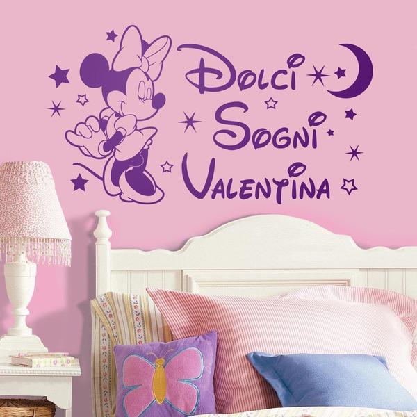 Kinderzimmer Wandtattoo: Minnie Mouse Dolci Sogni