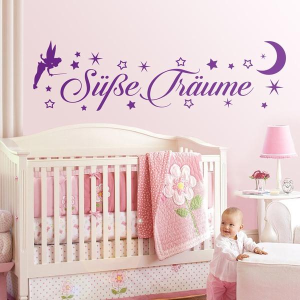 Kinderzimmer Wandtattoo: Tinkerbell Süße Träume