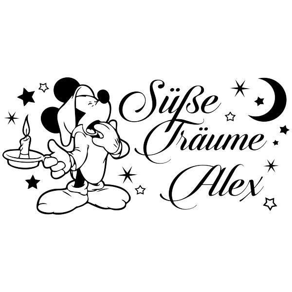 Kinderzimmer Wandtattoo: Mickey Mouse Süße Träume