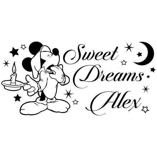 Kinderzimmer Wandtattoo: Mickey Mouse Sweet Dreams