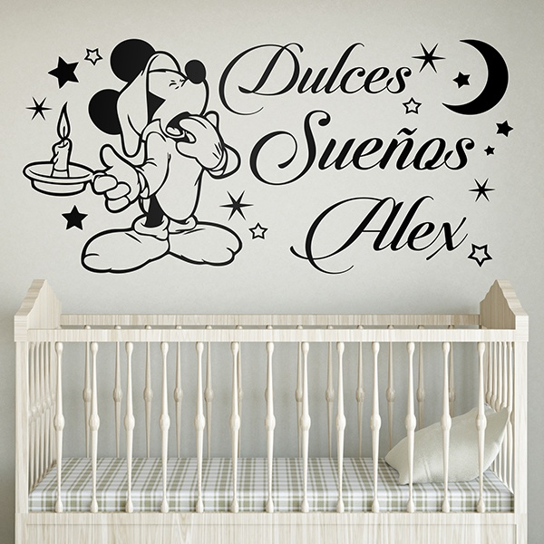 Kinderzimmer Wandtattoo: Mickey Mouse Dulces Sueños