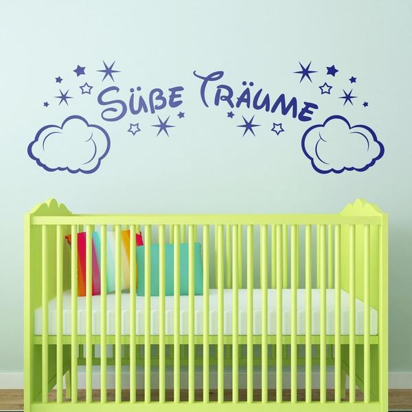 Kinderzimmer Wandtattoo: Wolken und Sterne Süße Träume