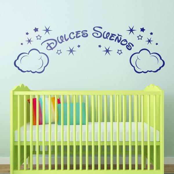Kinderzimmer Wandtattoo: Wolken und Sterne Dulces Sueños