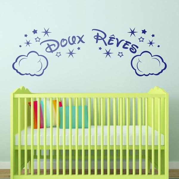 Kinderzimmer Wandtattoo: Wolken und Sterne Doux Rêves