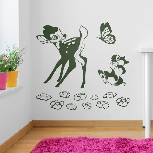 Kinderzimmer Wandtattoo: Bambi, Schmetterling und Eichhörnchen