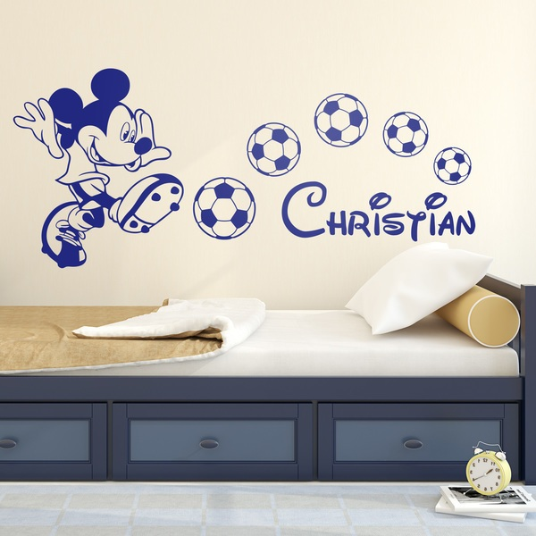 Kinderzimmer Wandtattoo: Mickey Mouse Football 1