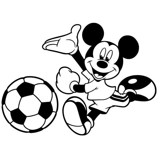 Kinderzimmer Wandtattoo: Mickey Mouse Football 2