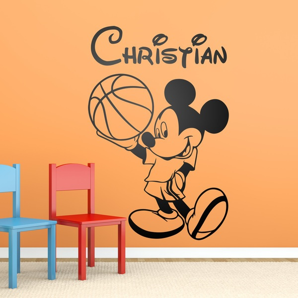 Kinderzimmer Wandtattoo: Mickey Mouse-Basketball-1 0