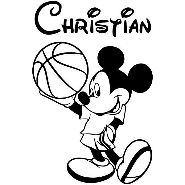 Kinderzimmer Wandtattoo: Mickey Mouse-Basketball-1