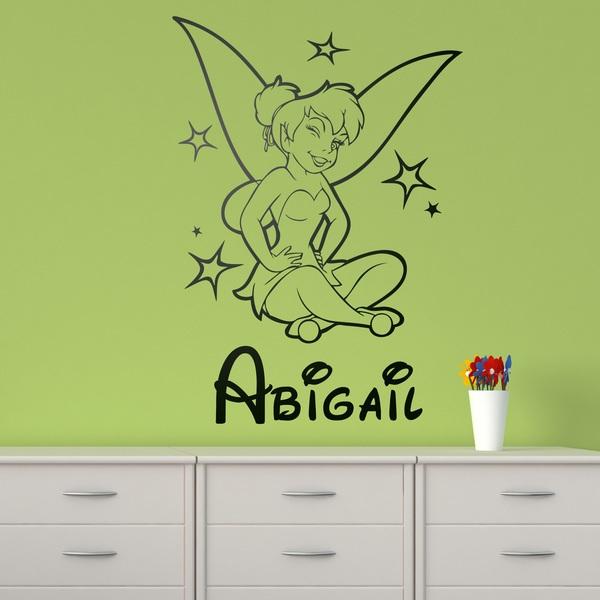 Kinderzimmer Wandtattoo: Tinkerbell und Namen