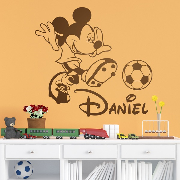 Kinderzimmer Wandtattoo: Mickey Mouse Football 3