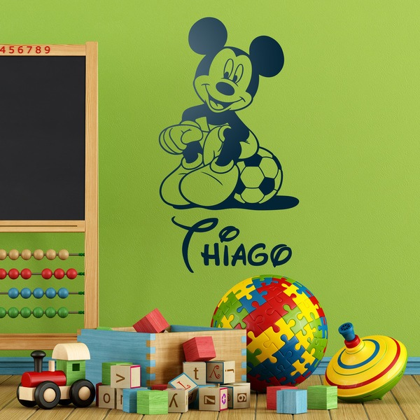 Kinderzimmer Wandtattoo: Mickey Mouse Football 4
