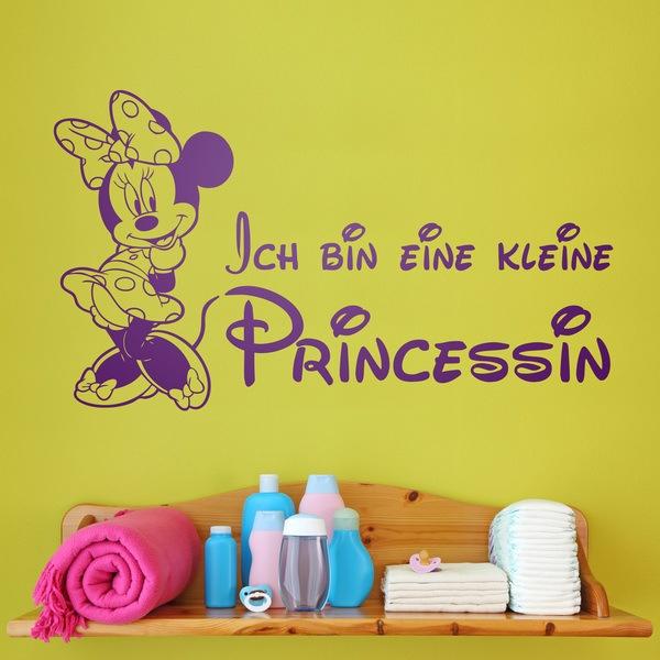 Kinderzimmer Wandtattoo: Minnie Ich bin eine kleine Princessin