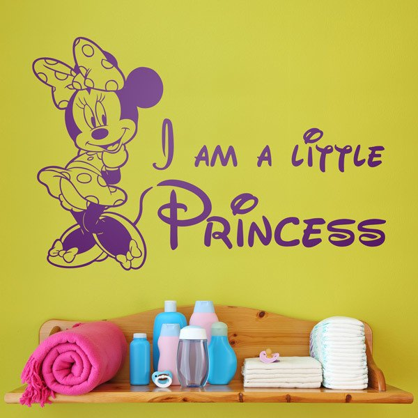 Kinderzimmer Wandtattoo: Minnie I am a little princess