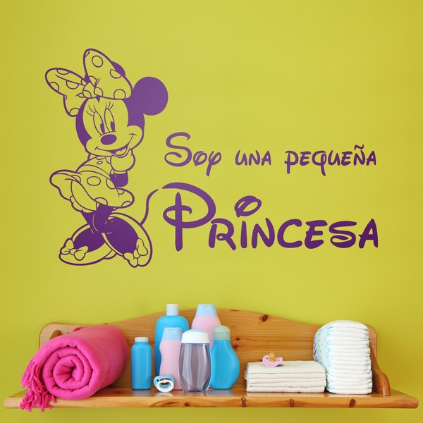 Kinderzimmer Wandtattoo: Minnie Soy una pequeña princesa