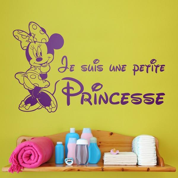 Kinderzimmer Wandtattoo: Minnie Je suis une petite princesse