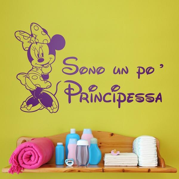 Kinderzimmer Wandtattoo: Minnie Sono un po principessa