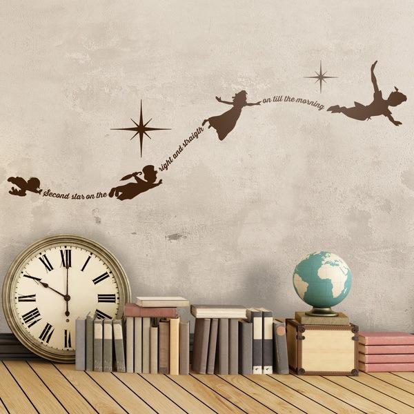 Kinderzimmer Wandtattoo: Typografische Peter Pan En