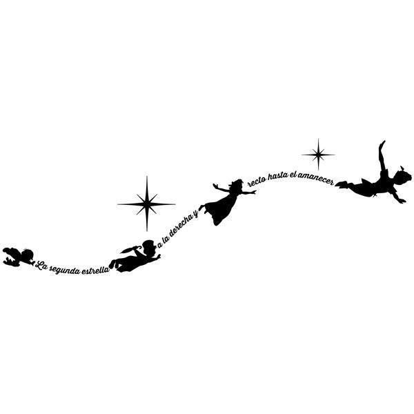 Kinderzimmer Wandtattoo: Typografische Peter Pan Es
