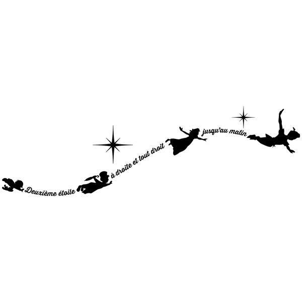 Kinderzimmer Wandtattoo: Typografische Peter Pan Fr