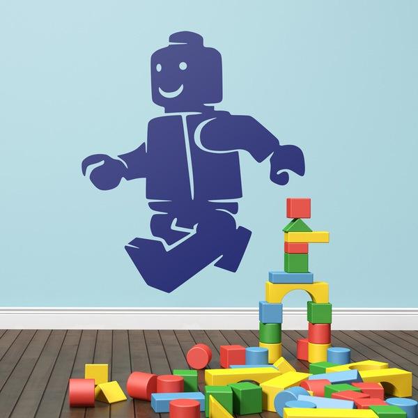 Kinderzimmer Wandtattoo: Abbildung Lego Gehen