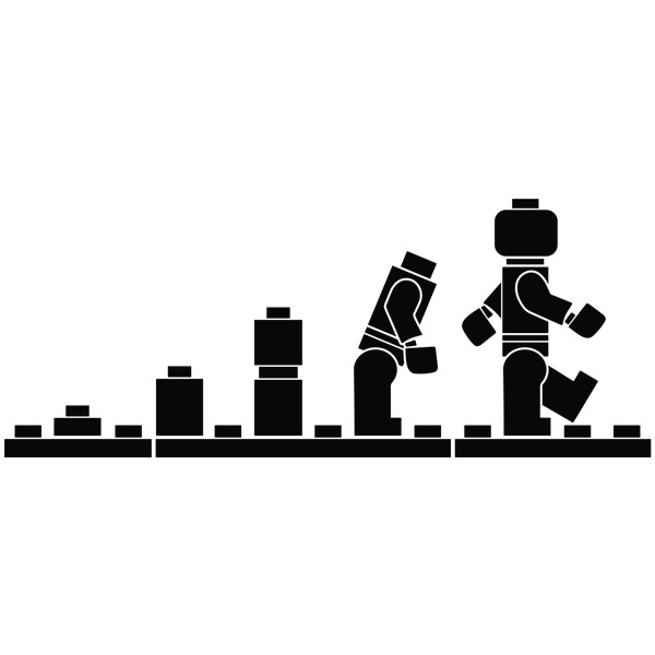 Kinderzimmer Wandtattoo: Evolution Lego Figuren