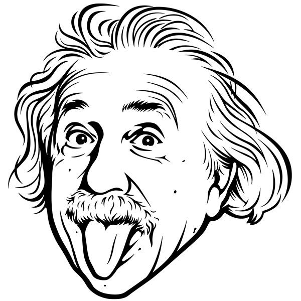 Wandtattoos: Albert Einstein