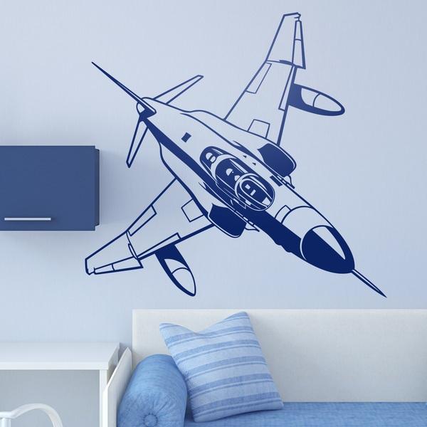 Wandtattoos: Military Jet-Flugzeugen