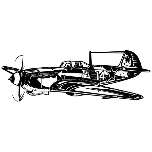 Wandtattoos: Zweiter Weltkrieg -Kampfflugzeug