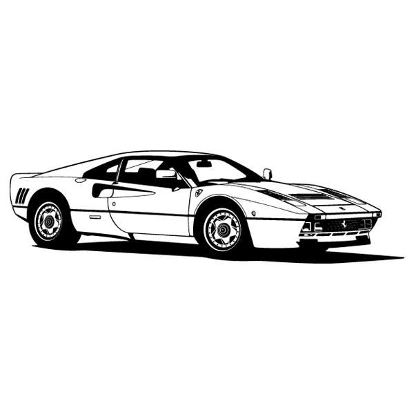 Wandtattoos: Ferrari 288 GTO