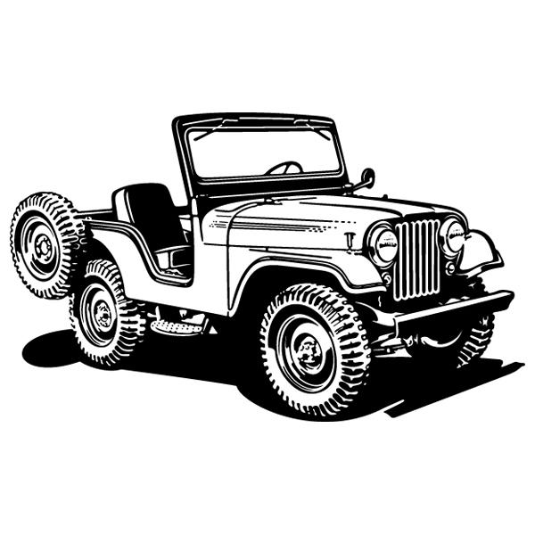 Wandtattoos: Jeep Zweiten Weltkrieg