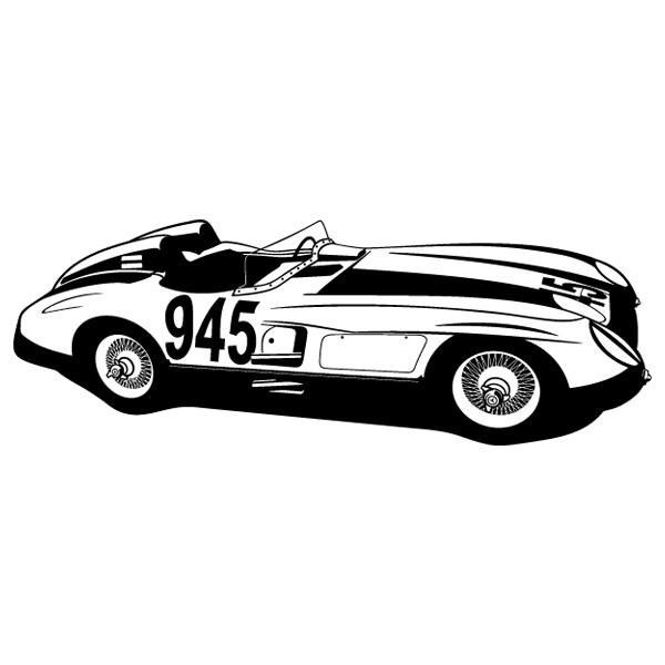 Wandtattoos: Ferrari 250 testa rossa - 1957