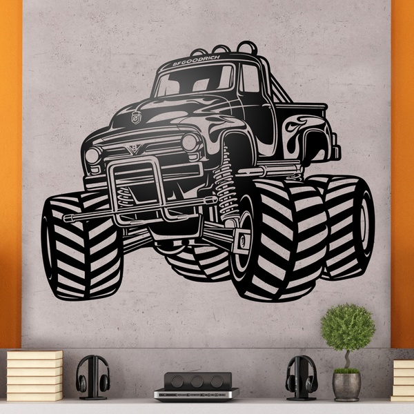 Wandtattoos: Monster Truck BigFoot
