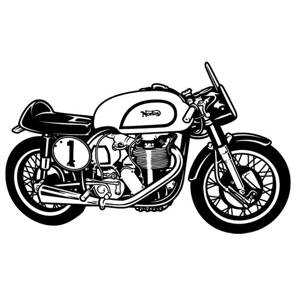 Wandtattoos: Klassisches Motorrad Norton