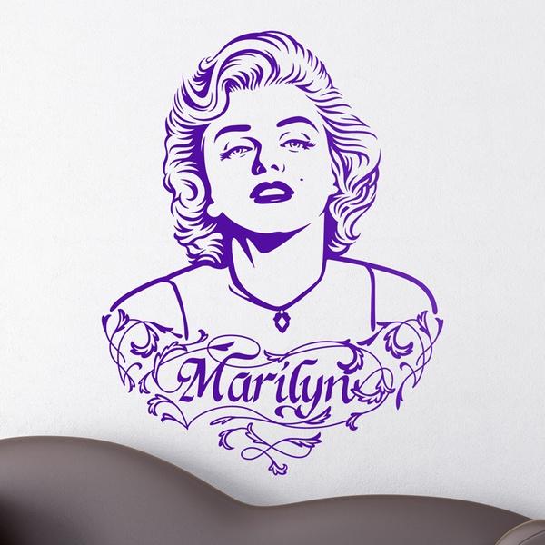 Wandtattoos: Marilyn Monroe Verzierungen und Text