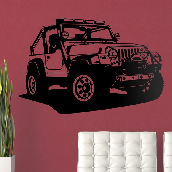 Wandtattoos: Jeep Wrangler