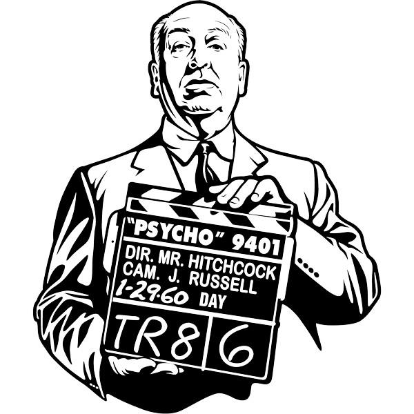 Wandtattoos: Alfred Hitchcock