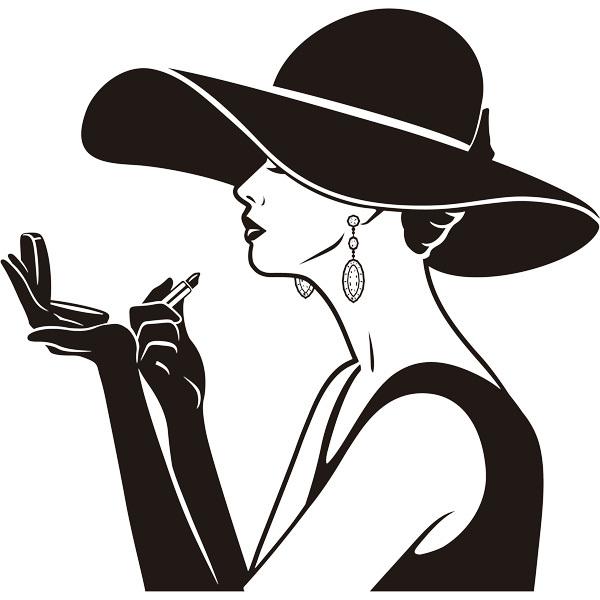 Wandtattoos: Elegante Dame Make-up