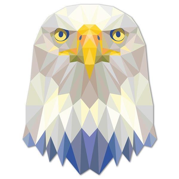 Wandtattoos: Eagle-Kopf-Origami