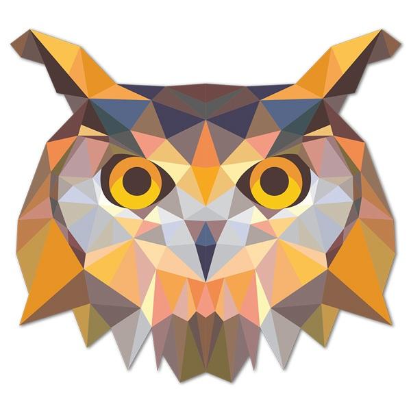 Wandtattoos: Kopf Origami Eule