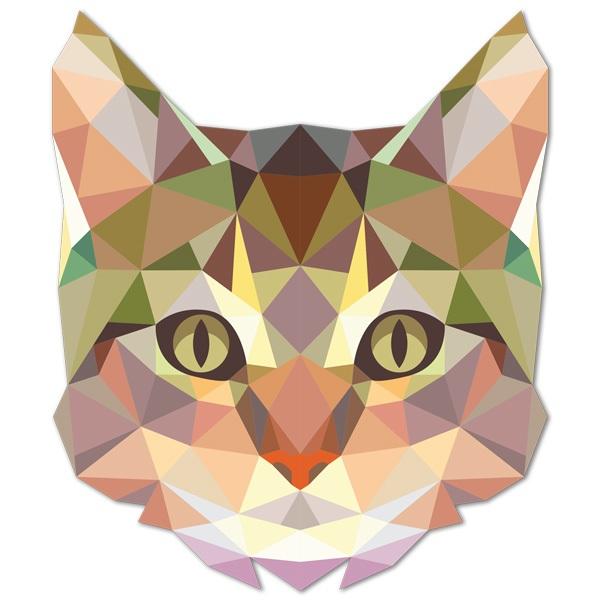 Wandtattoos: Katzenkopf Origami