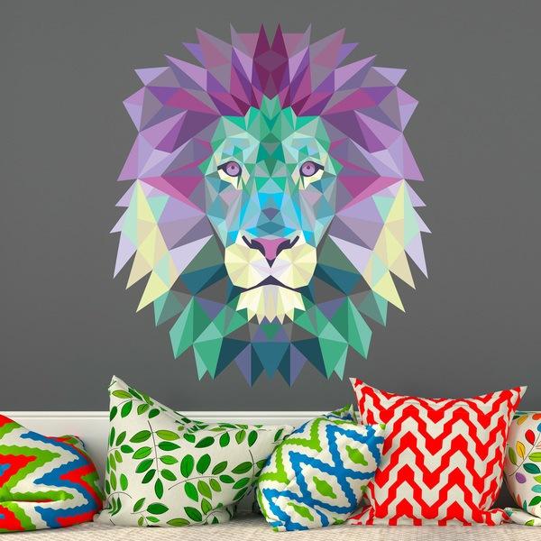 Wandtattoos: Löwenkopf Origami 2