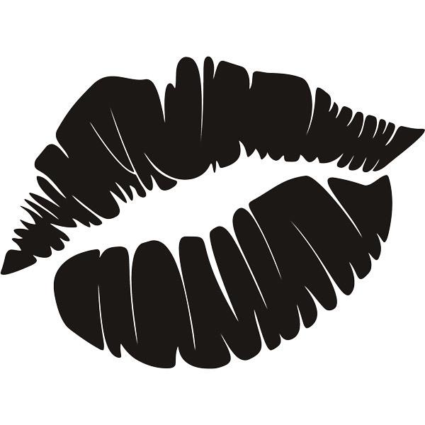 Wandtattoos: Fußabdruck Lippen