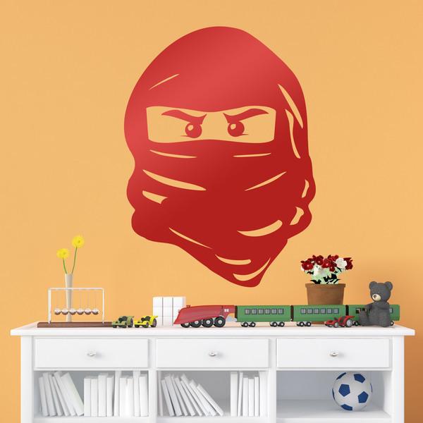 Kinderzimmer Wandtattoo: Figure Lego Ninja Face