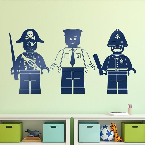 Kinderzimmer Wandtattoo: Triptychon Lego Figuren