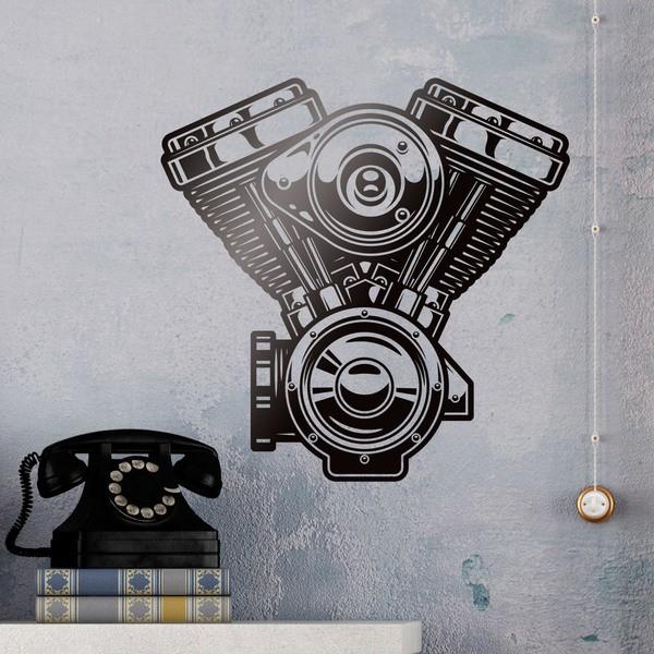 Wandtattoos: Engine V Harley Davidson