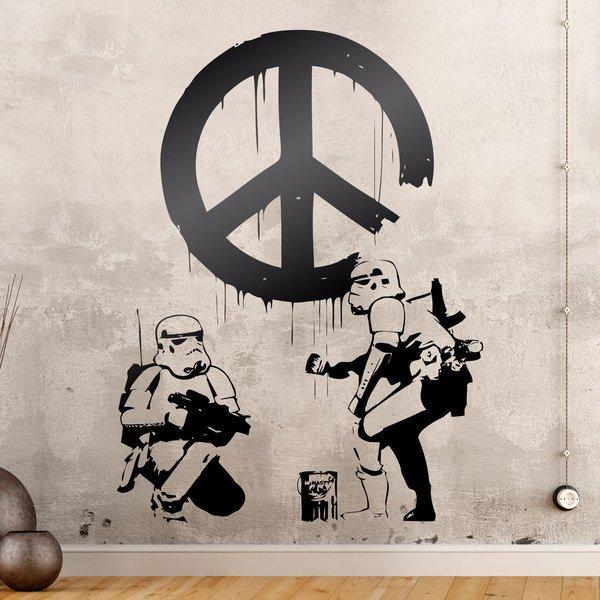Wandtattoos: Banksy Stil Stormtroopers